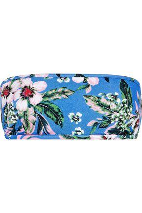 DIANE VON FURSTENBERG Floral-print bandeau bikini top
