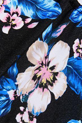 143f70945f ... DVF WEST DIANE VON FURSTENBERG Ring-embellished floral-print halterneck  swimsuit ...