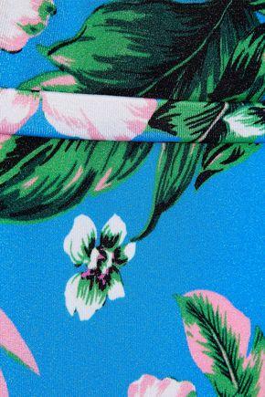 DIANE VON FURSTENBERG Belted floral-print high-rise bikini briefs
