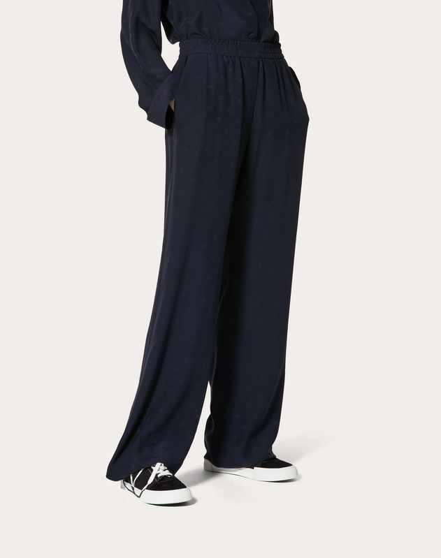 MINI VLOGO SATIN JACQUARD PYJAMA TROUSERS