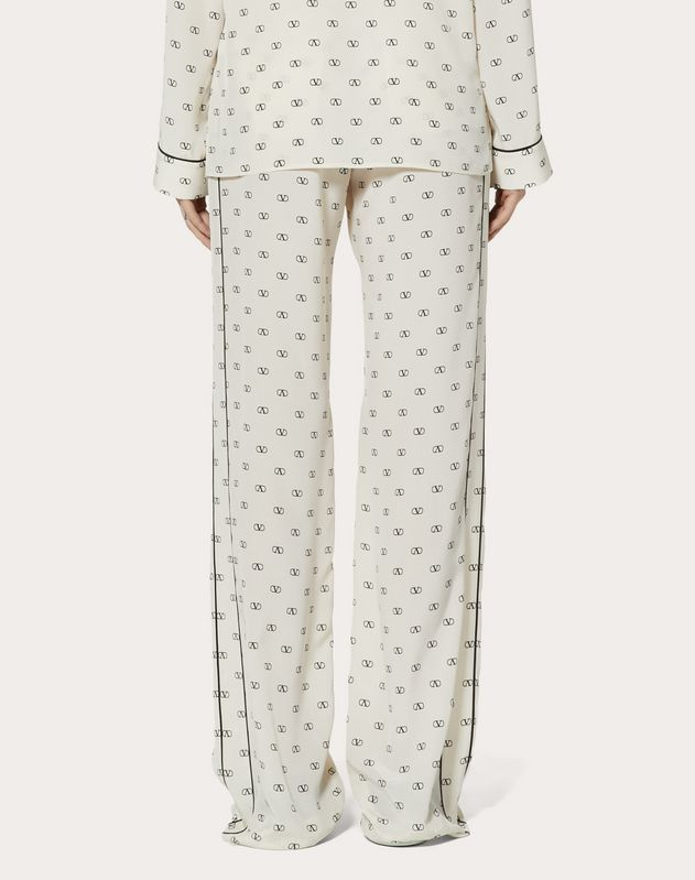 MINI VLOGO CREPE DE CHINE PYJAMA TROUSERS