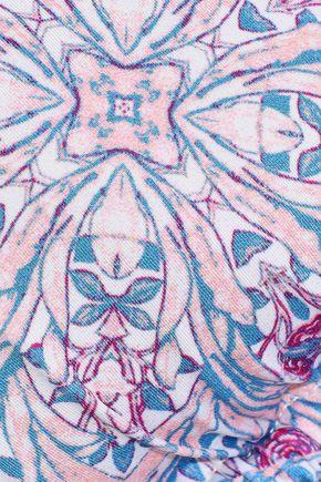 EBERJEY Marimar Gisele floral-print triangle bikini top
