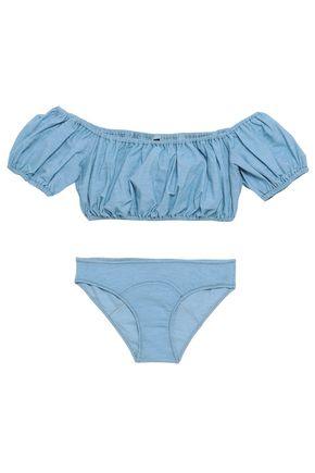 602195f00b LISA MARIE FERNANDEZ Off-the-shoulder cotton-blend stretch-jersey bikini