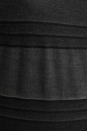 LISA MARIE FERNANDEZ Striped stretch-cotton jersey swimsuit