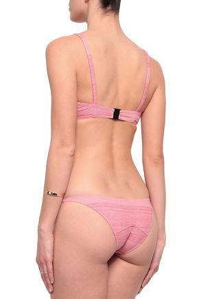 LISA MARIE FERNANDEZ Stretch-cotton jersey triangle bikini