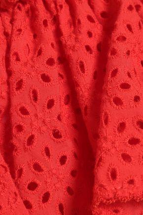 LISA MARIE FERNANDEZ Mira off-the-shoulder broderie anglaise cotton midi dress