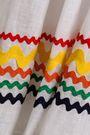 LISA MARIE FERNANDEZ Rick rack-trimmed linen-gauze coverup