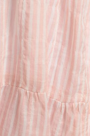 LISA MARIE FERNANDEZ Striped cotton-blend gauze coverup