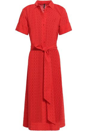 LISA MARIE FERNANDEZ Broderie anglaise cotton midi shirt dress