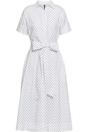 LISA MARIE FERNANDEZ Fil coupé cotton midi shirt dress