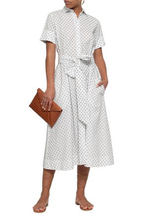 LISA MARIE FERNANDEZ Fil coupé cotton midi shirt dress