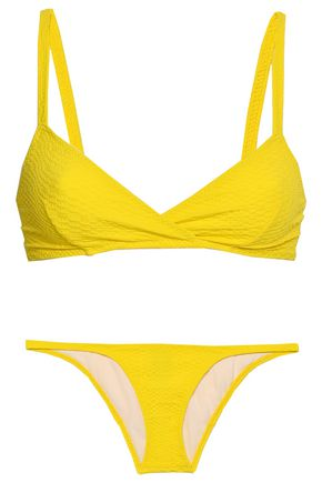 LISA MARIE FERNANDEZ Cloqué triangle bikini