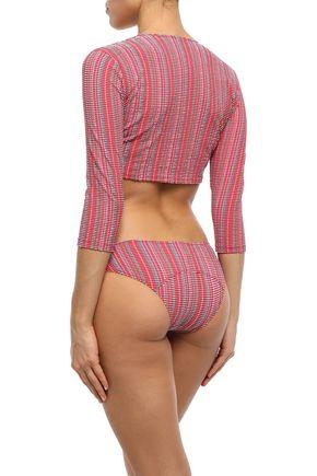 LISA MARIE FERNANDEZ Seersucker bikini