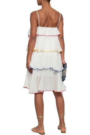 LISA MARIE FERNANDEZ Rick rack-trimmed cotton-poplin coverup