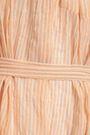 LISA MARIE FERNANDEZ Striped cotton-blend seersucker coverup