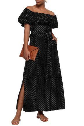 LISA MARIE FERNANDEZ Mira off-the-shoulder cotton fil coupé coverup