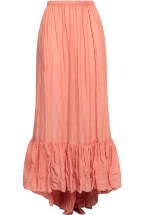 LISA MARIE FERNANDEZ Crinkled cotton-blend gauze maxi skirt