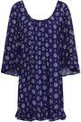 EBERJEY Soleil ruffle-trimmed printed voile mini dress