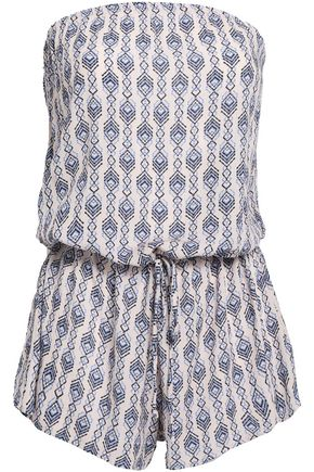 EBERJEY Printed gauze playsuit