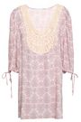 EBERJEY Crochet-paneled printed voile coverup