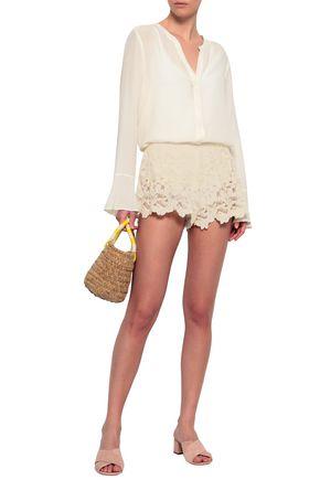 EBERJEY Crocheted cotton shorts