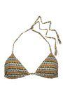 EBERJEY Gisele printed triangle bikini top