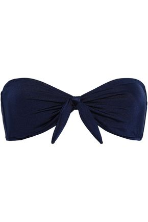 EBERJEY Bow-detailed bandeau bikini top