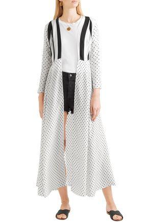 WE ARE LEONE Printed silk crepe de chine robe