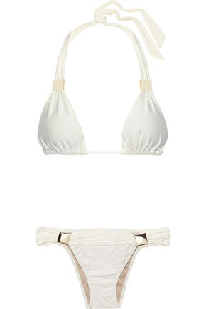 ADRIANA DEGREAS Ruched triangle bikini