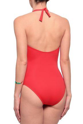MELISSA ODABASH Puerto Rico lace-up halterneck swimsuit