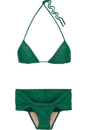 ADRIANA DEGREAS Ruched triangle bikini