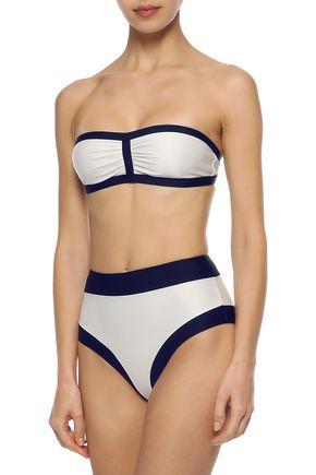 ADRIANA DEGREAS Ruched bandeau bikini