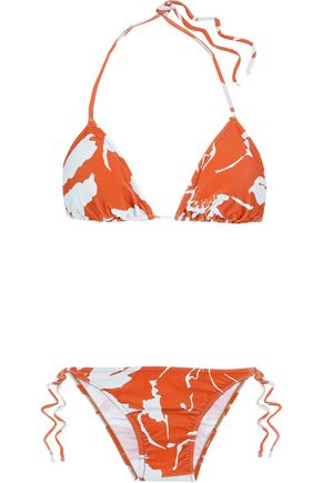 ADRIANA DEGREAS Printed low-rise triangle bikini