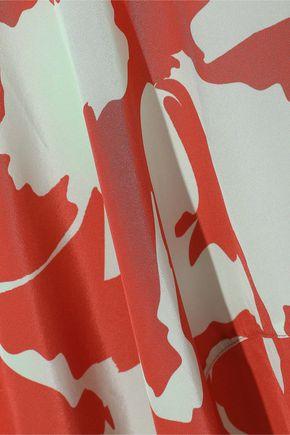 ADRIANA DEGREAS Asymmetric printed silk skirt