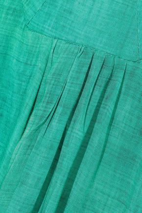 VIX PAULA HERMANNY Lagoon Susan cutout cotton-gauze maxi dress