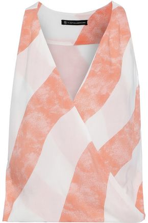 VIX PAULA HERMANNY Balm wrap-effect striped voile top