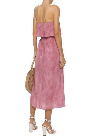 VIX PAULA HERMANNY Salar strapless wrap-effect voile midi dress