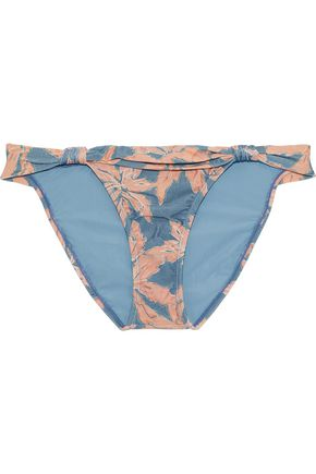 VIX PAULA HERMANNY Margarita Bia knotted printed low-rise bikini briefs