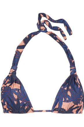 VIX PAULA HERMANNY Paradise Bia knotted printed triangle bikini top