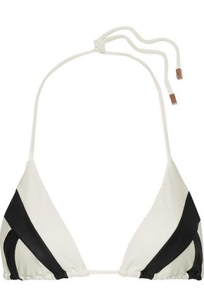 VIX PAULA HERMANNY Wave printed triangle bikini top