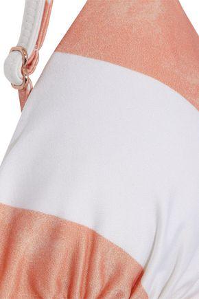 VIX PAULA HERMANNY Rope knotted striped triangle bikini top