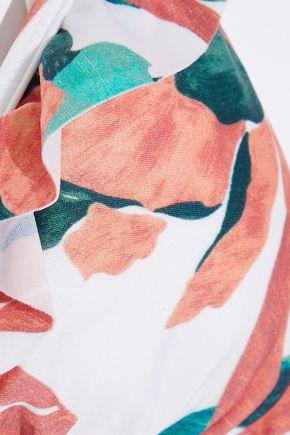 VIX PAULA HERMANNY Bluebell ruffle-trimmed floral-print triangle bikini top