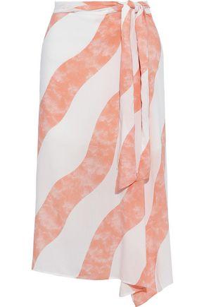 VIX PAULA HERMANNY Balm Ana asymmetric striped voile skirt