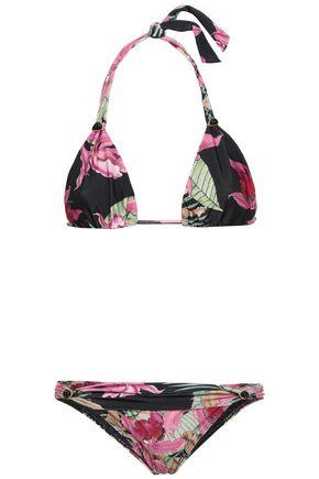 ADRIANA DEGREAS Floral-print triangle bikini