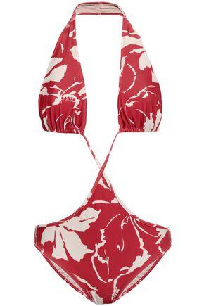 ADRIANA DEGREAS Cutout printed swimsuit