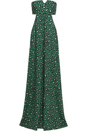 ADRIANA DEGREAS | Adriana Degreas Cutout Leopard-Print Voile Maxi Dress | Goxip