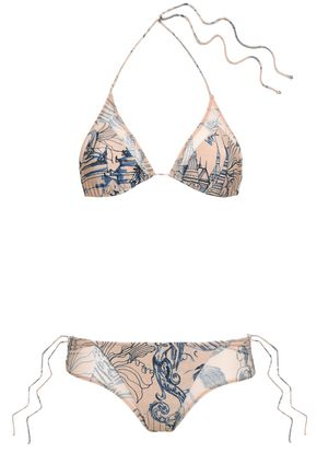 ADRIANA DEGREAS Printed triangle bikini