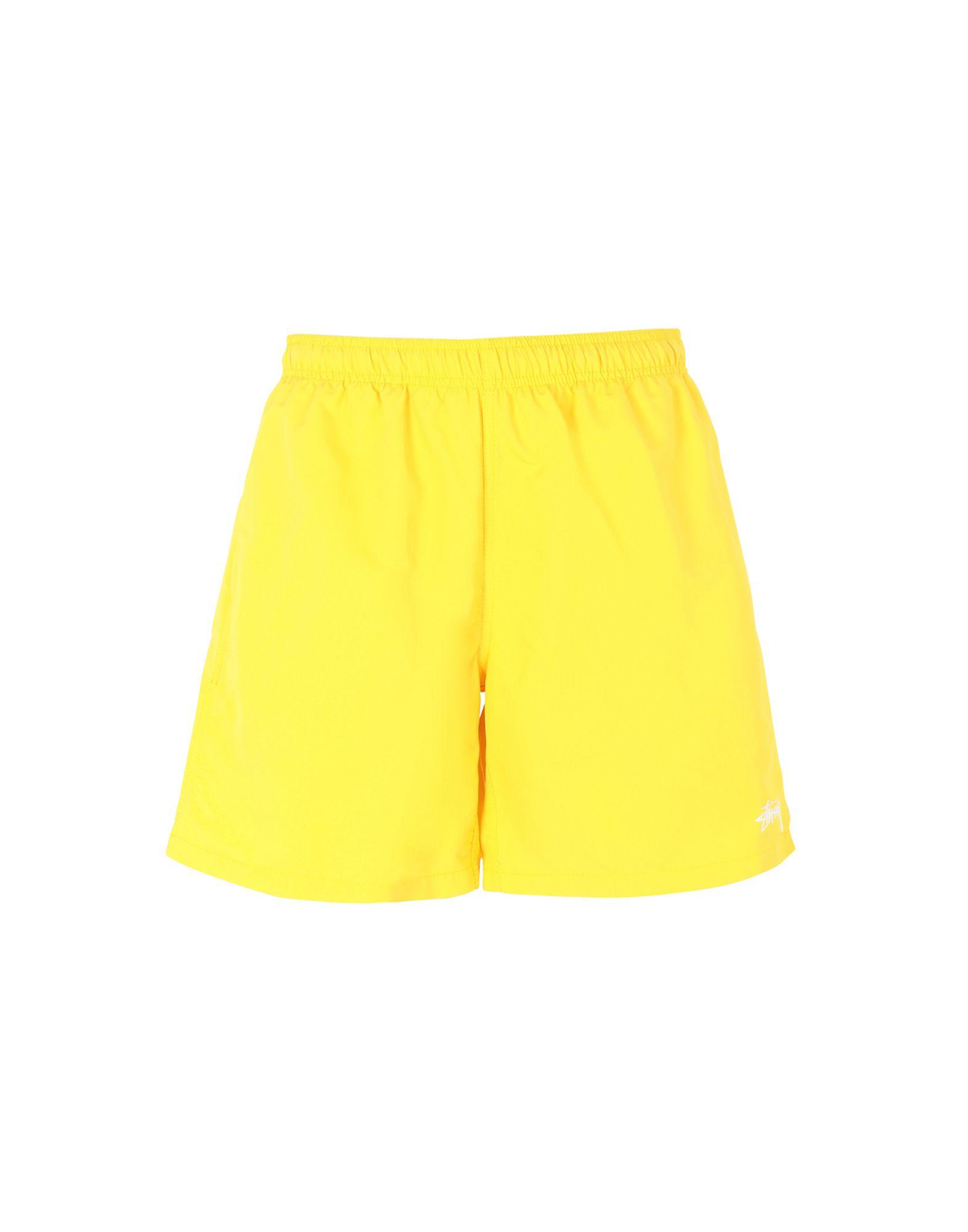 Stussy Swim Trunks With Logo In Yellow (yellow)