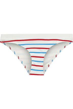 SOLID & STRIPED The Madison striped low-rise bikini briefs