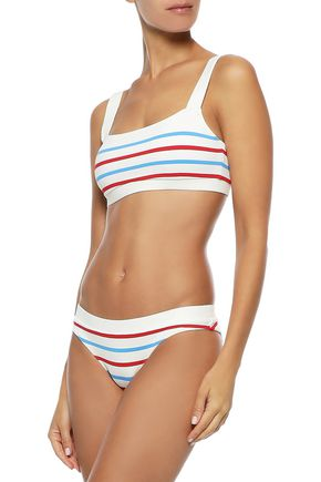 SOLID & STRIPED The Madison striped bikini top